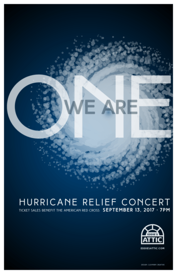 Eddie's Attic We Are One Hurricane Relief Concert Poster
